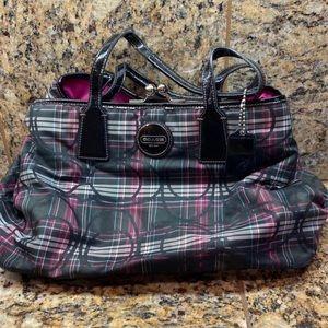 Coach plaid bag